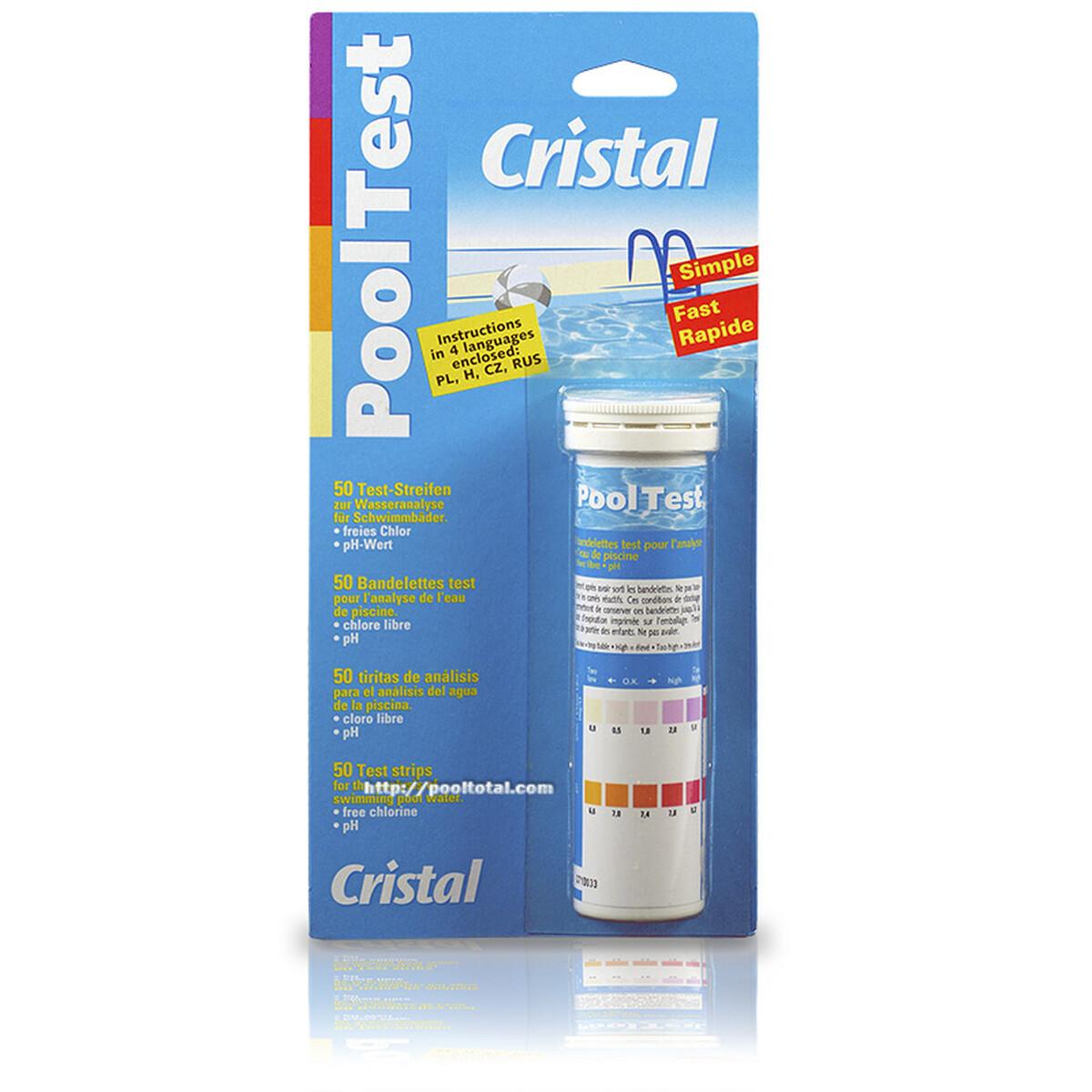 Cristal PoolTest - 50 Teststreifen für Chlor und pH