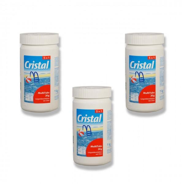 Cristal MultiTabs 5-in-1 á 20g (1 kg) 3er Set