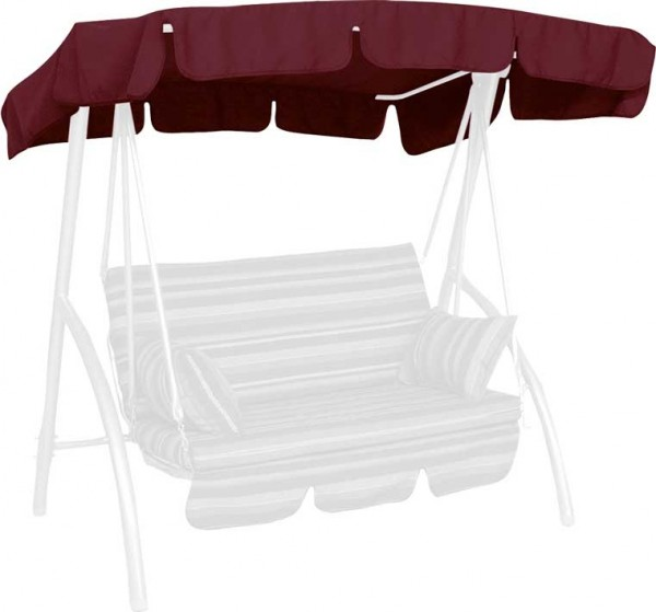 Angerer Hollywoodschaukel Dach Swingtex 160x145cm bordeaux