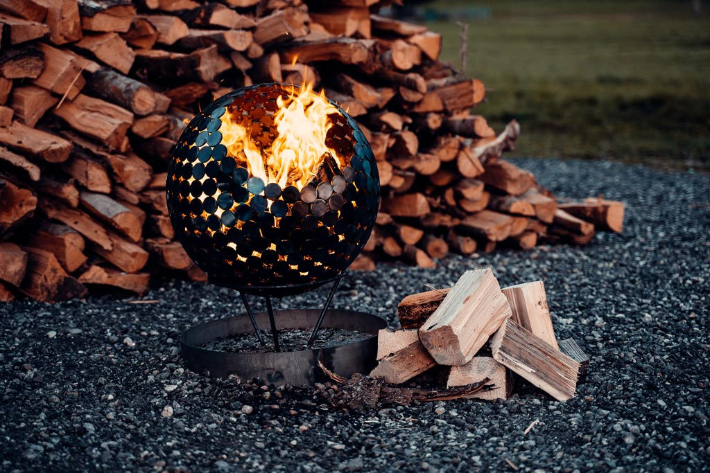 handgemachter Feuerkorb - 50 cm