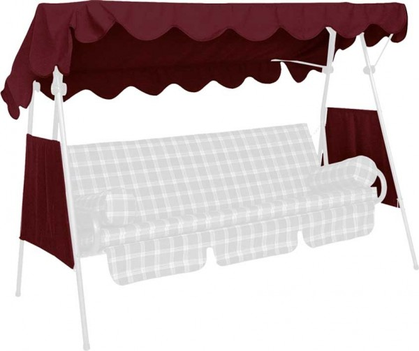 Angerer Hollywoodschaukel Dach Swingtex 200x120cm bordeaux