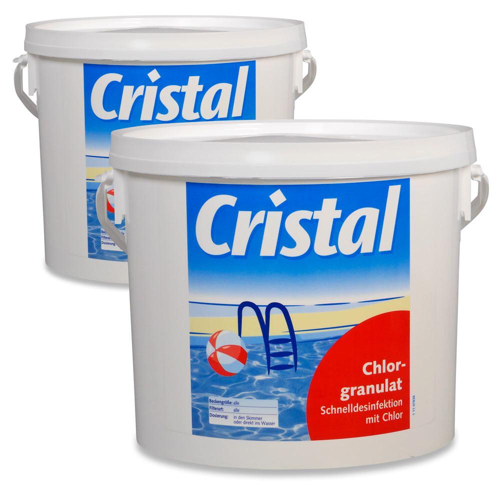 Cristal SET Chlorgranulat 5kg im 2er Set