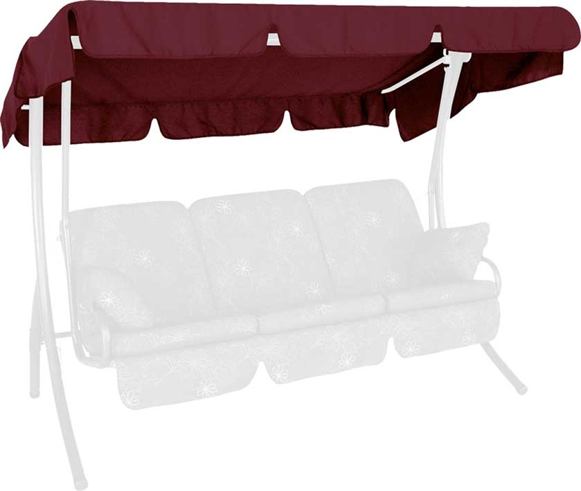Angerer Hollywoodschaukel Dach Swingtex 210x145cm bordeaux