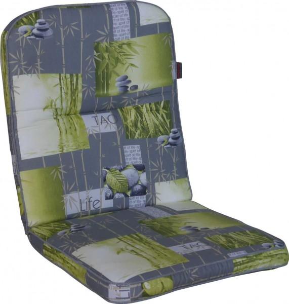 Angerer Stuhlauflage Niedrig - Bambus grau
