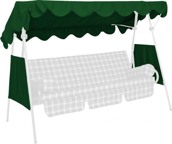 Angerer Hollywoodschaukel Dach PE-Gewebe 200x120cm grün