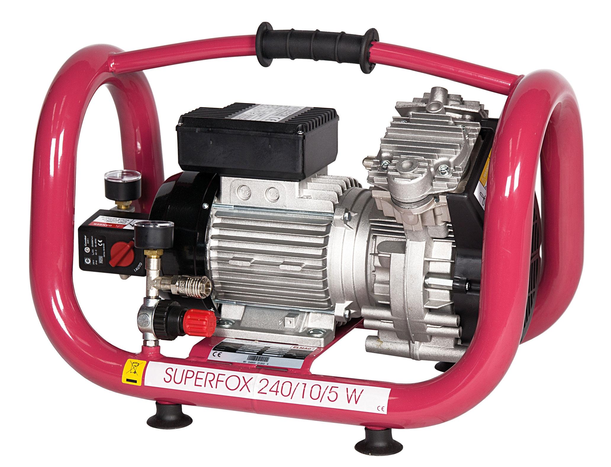 Elmag ölfreier Kompressor SUPERFOX 240/10/5 W