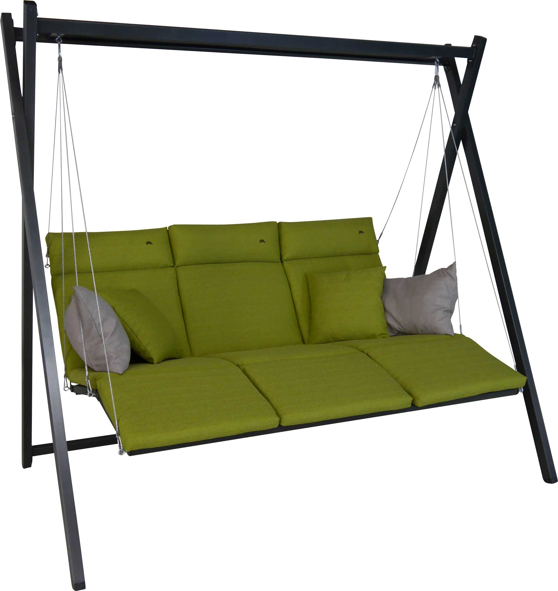 Angerer Hollywoodschaukel Relax Smart lime - 3-Sitzer