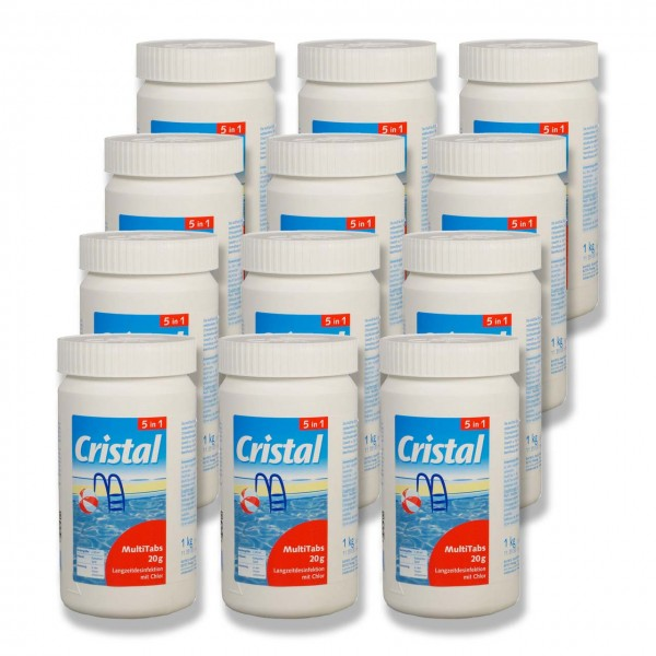 Cristal MultiTabs 5-in-1 á 20g (1 kg) 12er Set