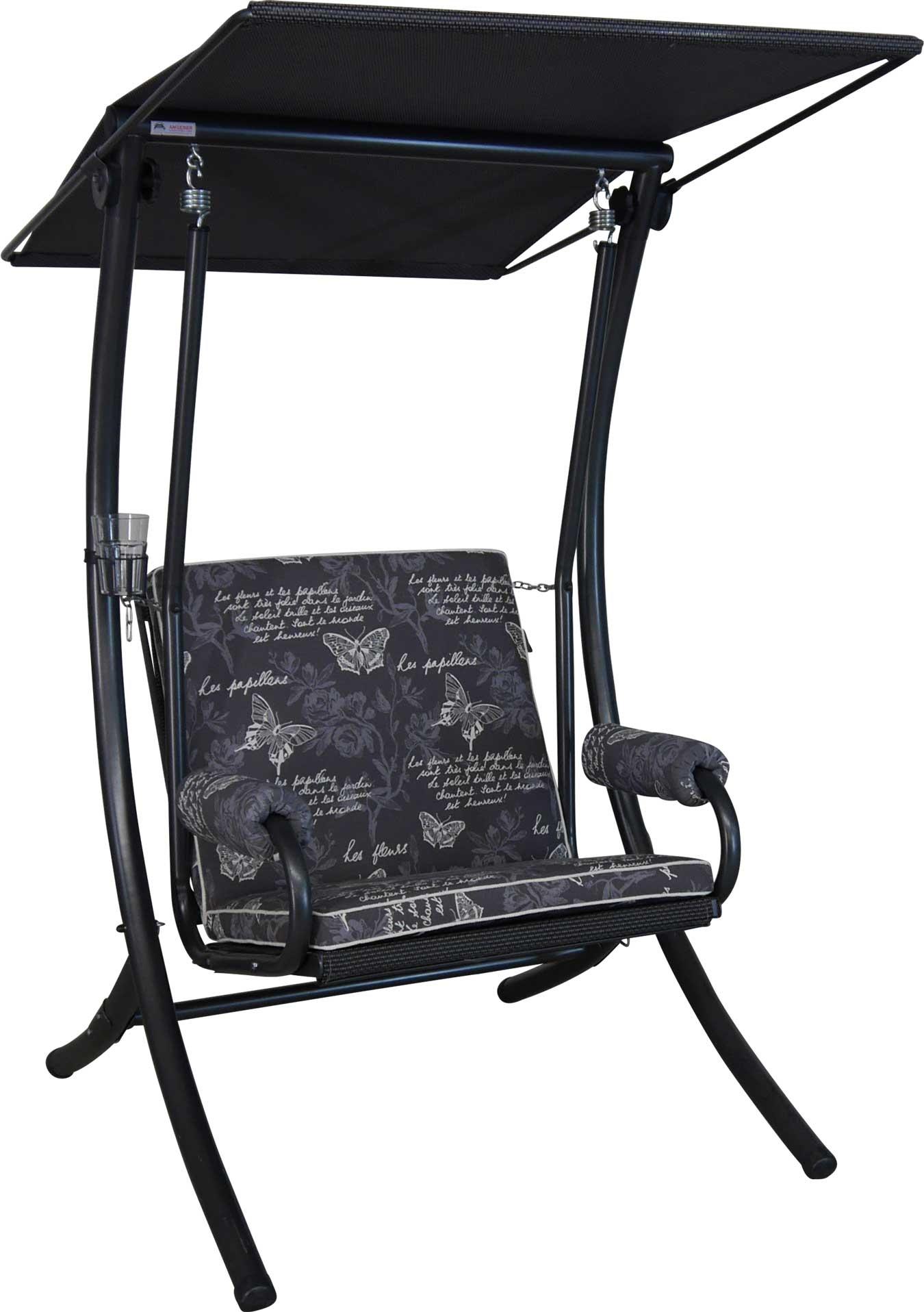 Angerer Hollyoodschaukel 1-Sitzer Royal Schmetterling