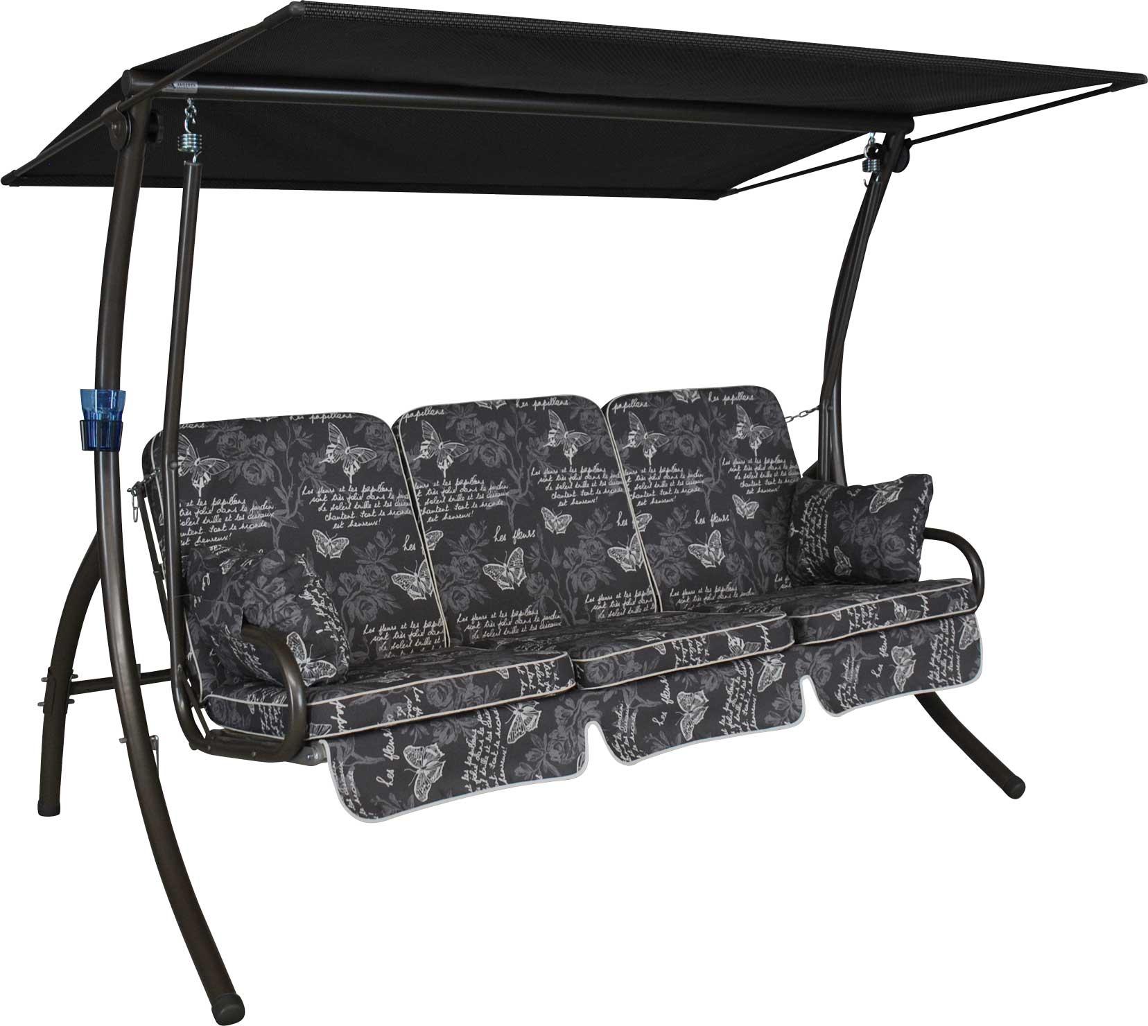 Angerer Hollywoodschaukel Primero Schmetterling - 3-Sitzer