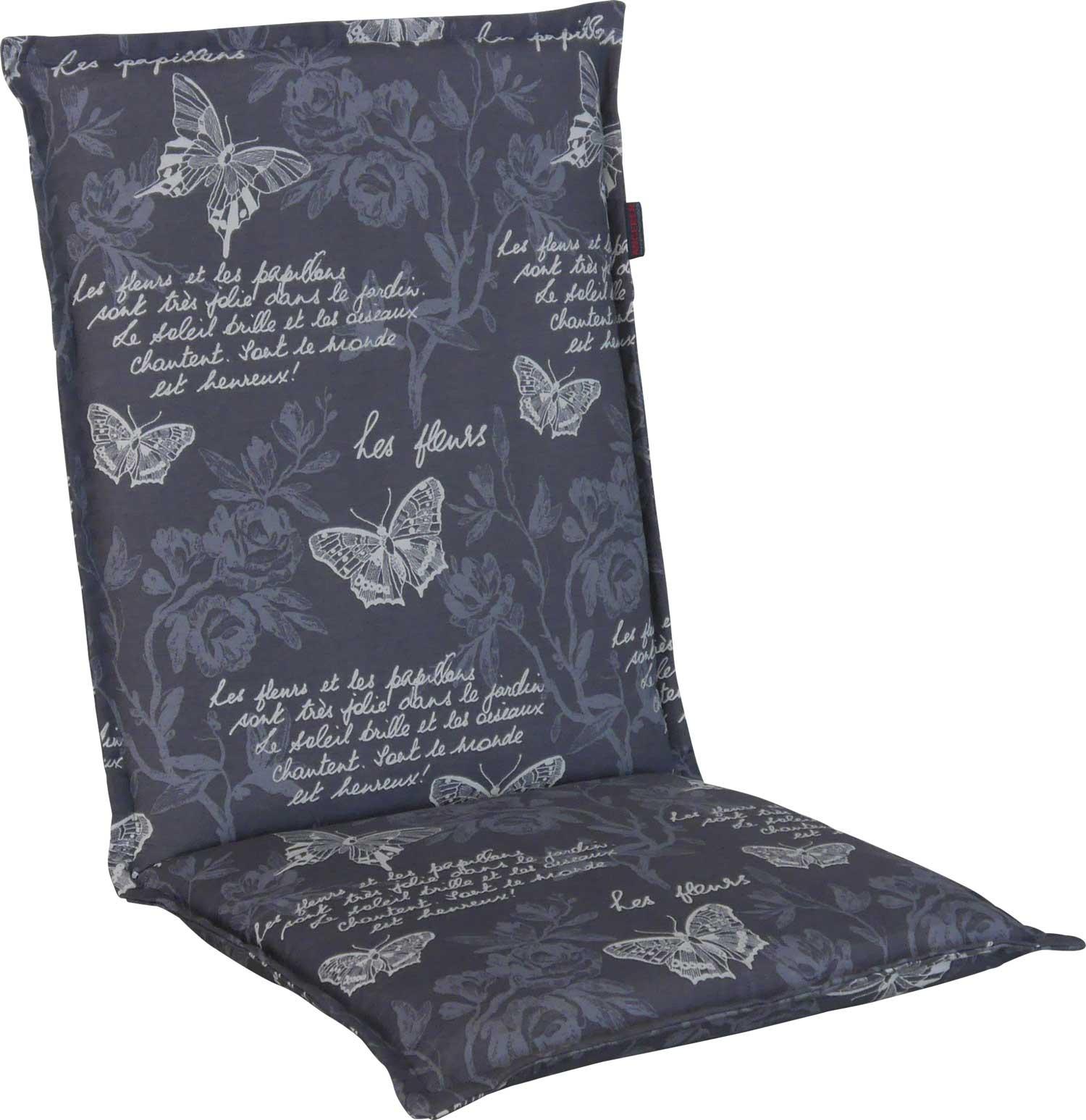Angerer Stuhlauflage mit Stehsaum - Schmetterling