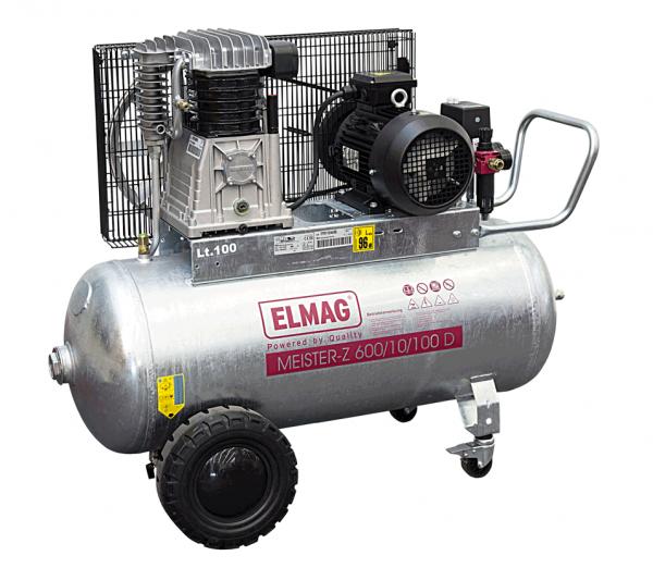 Elmag Kompressor MEISTER-Z 'verzinkt' 600/10/100 D