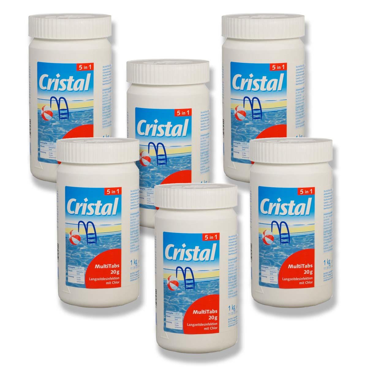 Cristal MultiTabs 5-in-1 á 20g (1 kg) 6er Set