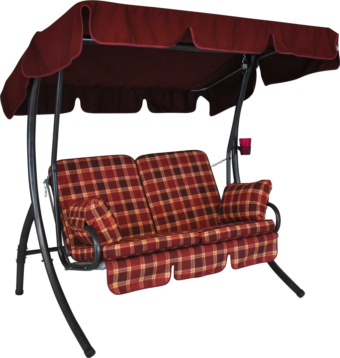 Angerer Hollywoodschaukel 2-Sitzer Comfort Rio bordeaux
