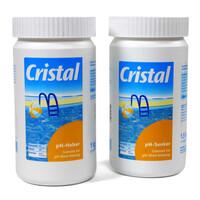 Cristal SET pH-Senker 1,5kg und pH-Heber 1kg
