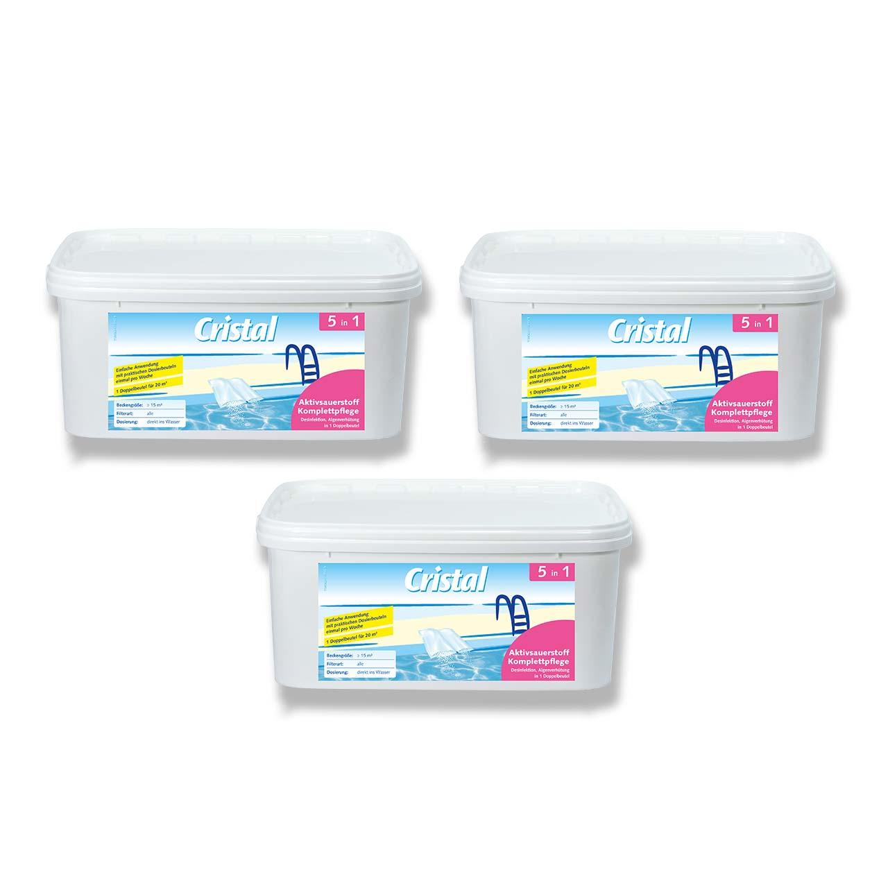 Cristal Aktivsauerstoff Komplettpflege 3-Set