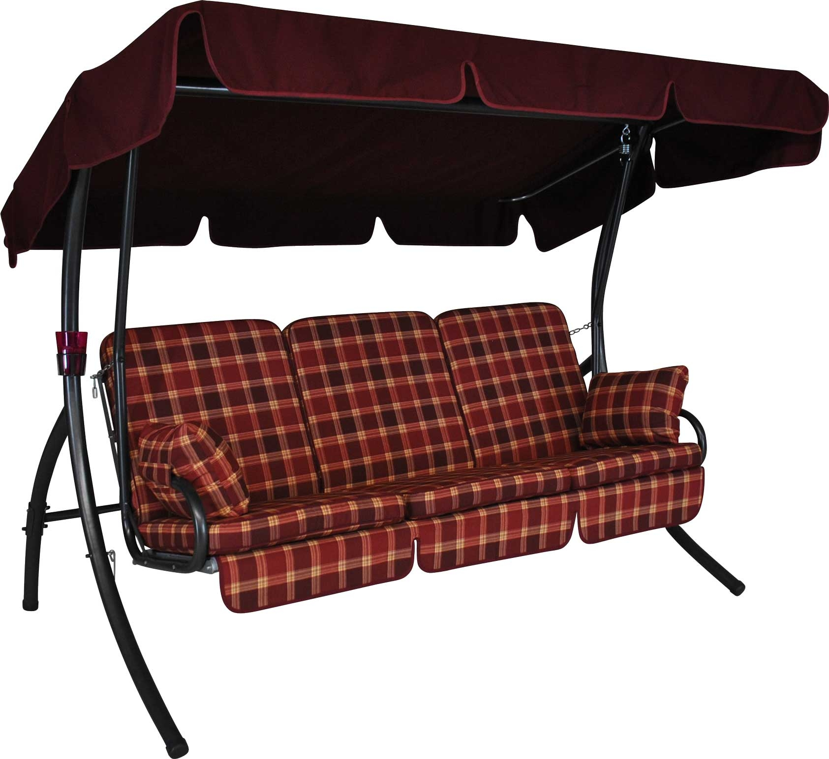 Angerer Hollywoodschaukel Comfort Rio bordeaux - 3-Sitzer