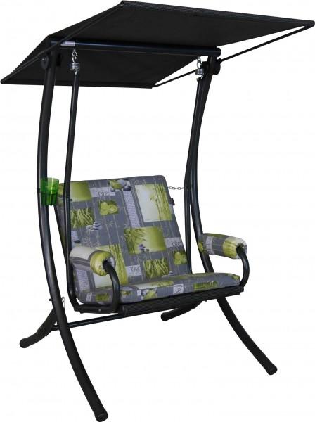 Angerer Hollyoodschaukel 1-Sitzer Royal Bambus grau