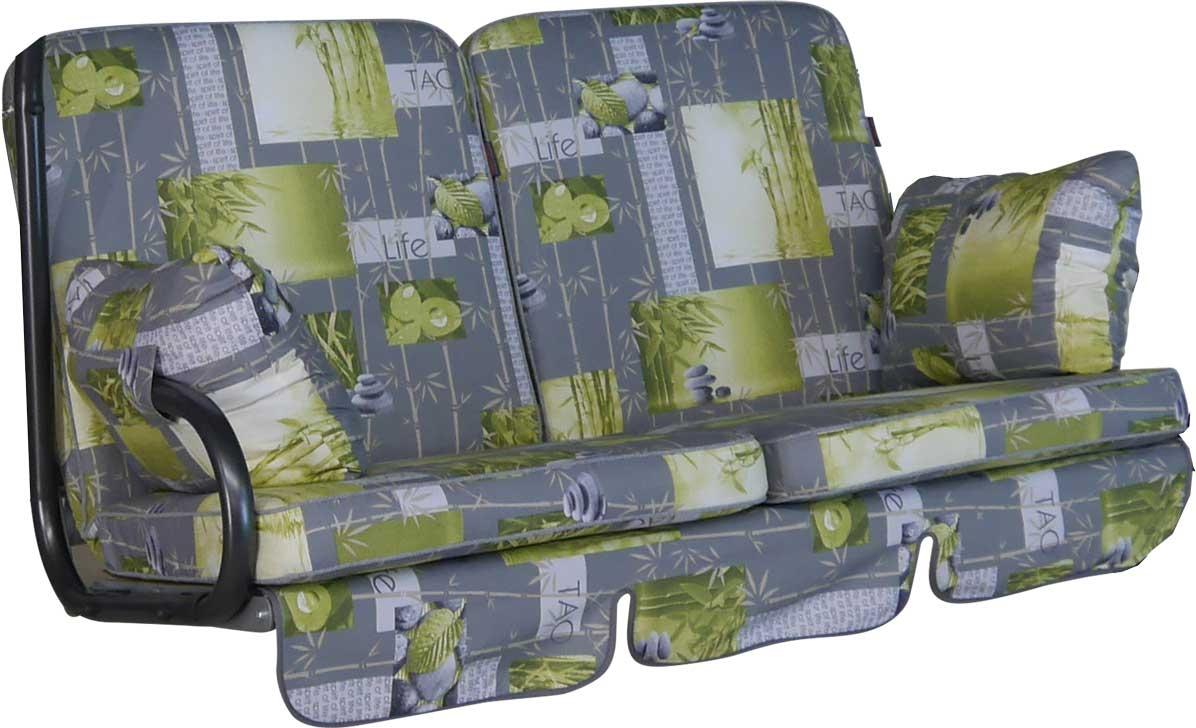 Angerer Hollywoodschaukel Auflage 2-Sitzer Comfort Bambus grau