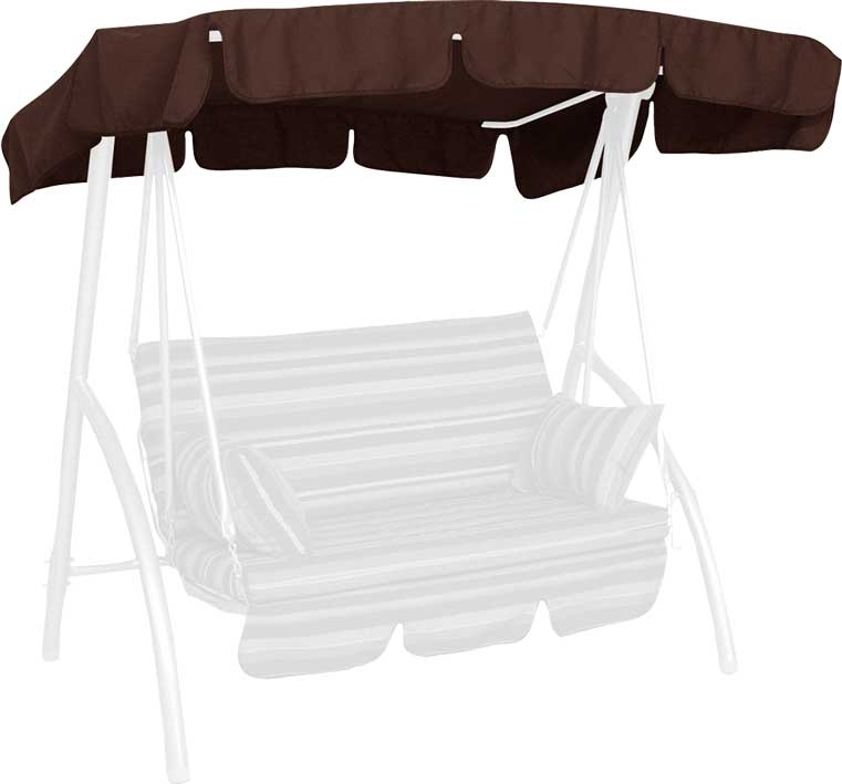 Angerer Hollywoodschaukel Dach Swingtex 160x145cm braun