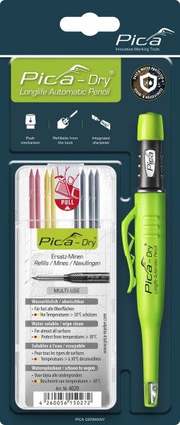 Pica DRY Bundle - Longlife Automatic Pencil mit Minenset