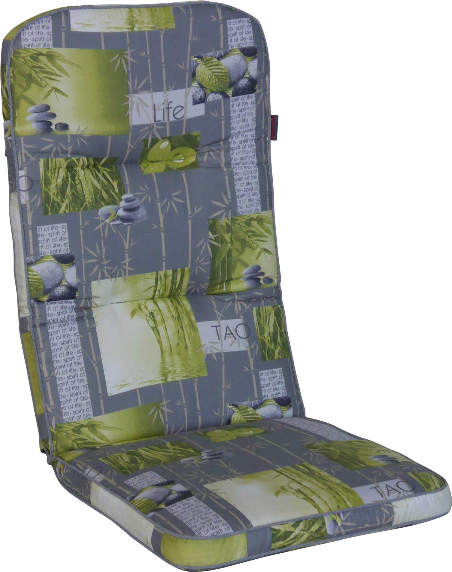 Angerer Stuhlauflage Hochlehner - Bambus grau