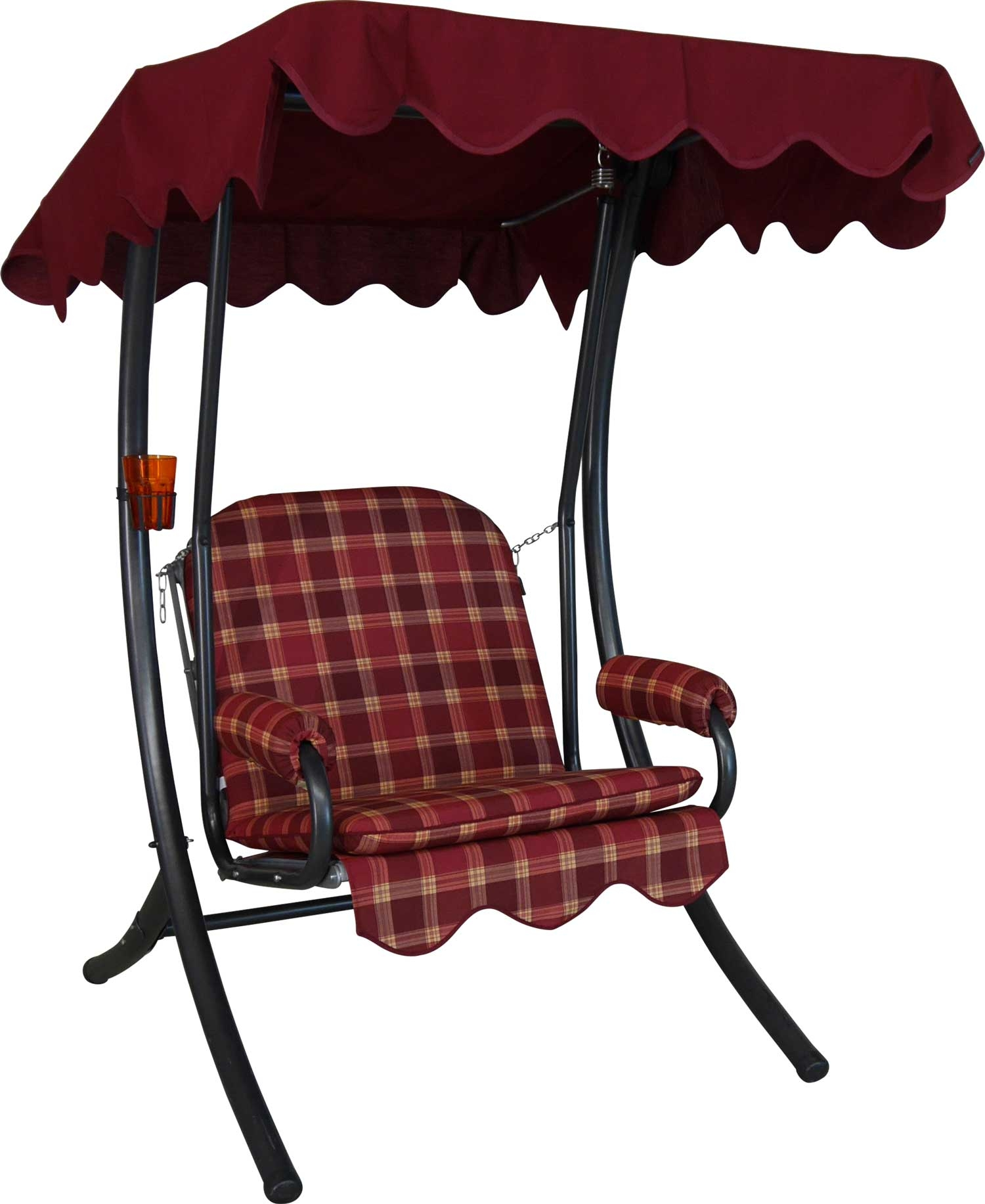 Angerer Hollywoodschaukel 1-Sitzer Rio bordeaux