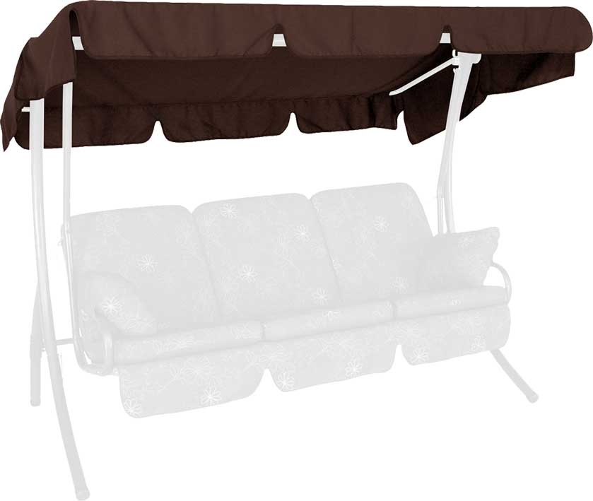 Angerer Hollywoodschaukel Dach Swingtex 210x145cm braun