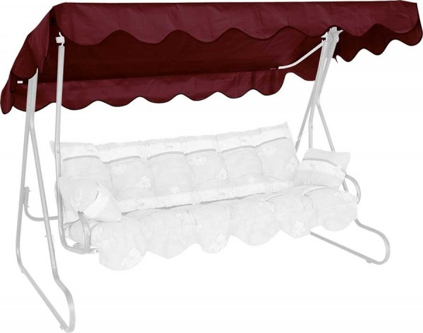 Angerer Hollywoodschaukel Dach PE-Gewebe 210x145cm bordeaux