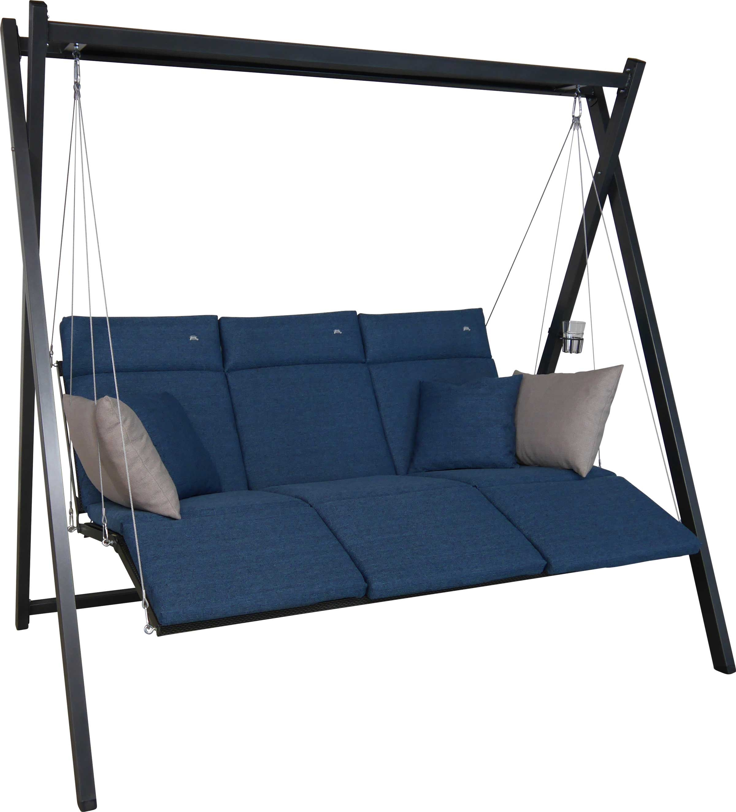 Angerer Hollywoodschaukel Relax Smart denim 3-Sitzer