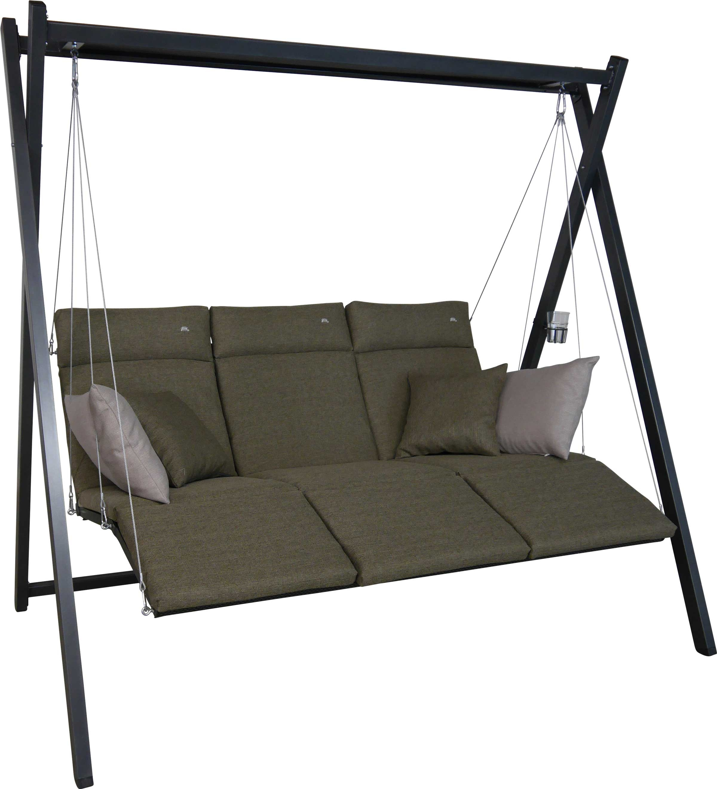 Angerer Hollywoodschaukel Relax Smart olive - 3-Sitzer