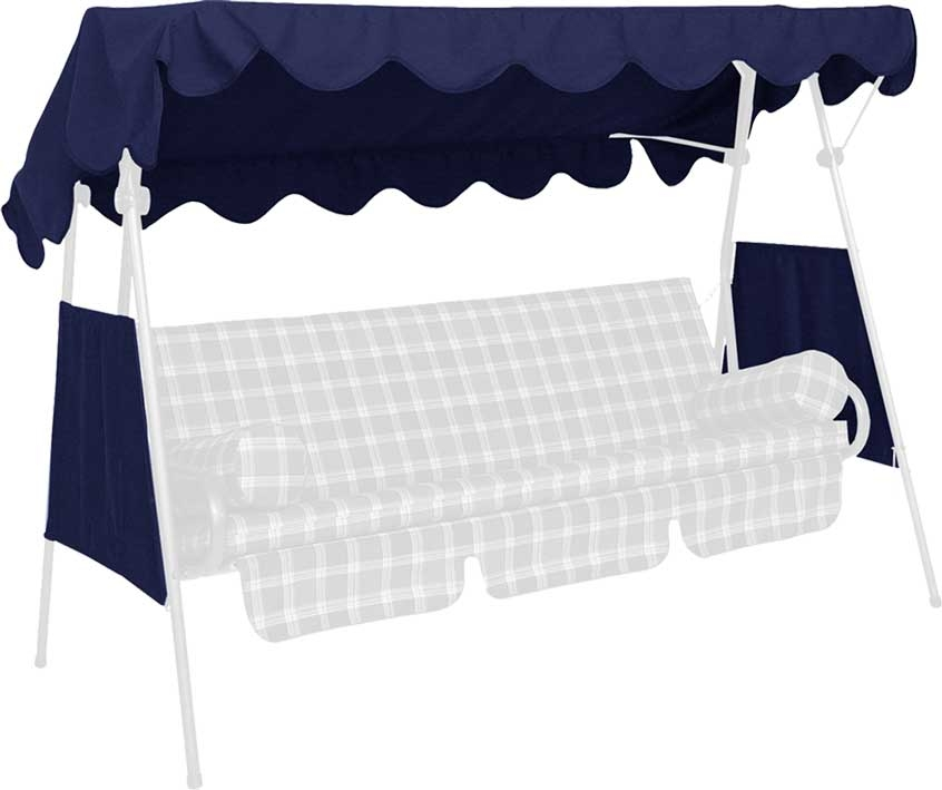 Angerer Hollywoodschaukel Dach Swingtex 200x120cm blau