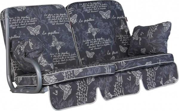 Angerer Hollywoodschaukel Auflage 2-Sitzer Comfort Schmetterling