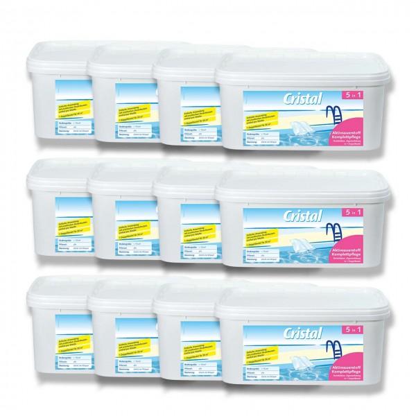 Cristal Aktivsauerstoff Komplettpflege 12-Set