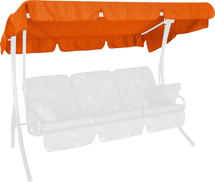 Angerer Hollywoodschaukel Dach Swingtex 210x145cm orange