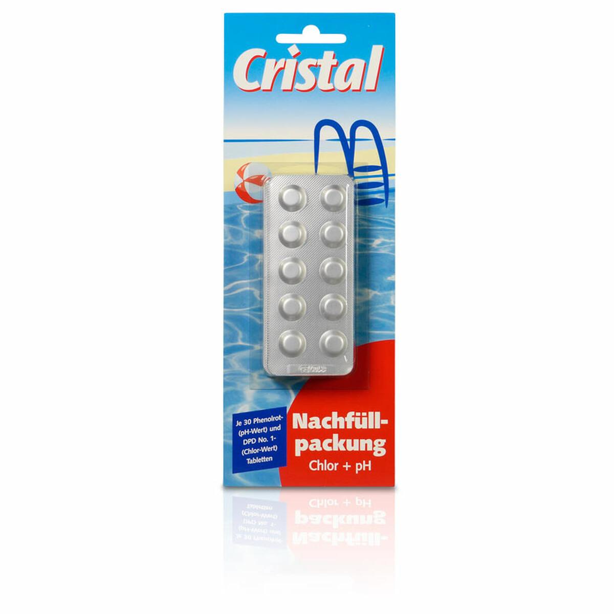 Nachfüllpackung für Chlor und pH Testgerät